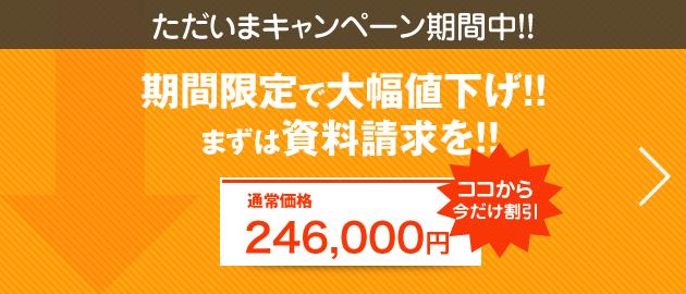 ただいま、キャンペーン期間中のため大幅値下げ!まずは資料請求を!